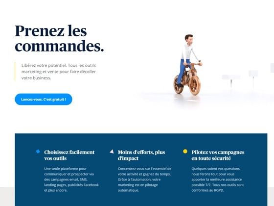 Outil marketing automation Send in Blue