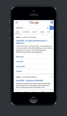 SERP Google en mobile