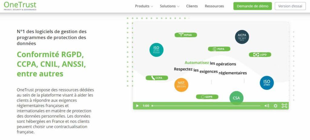 OneTrust, outil de consentement pour générer un bandeau cookies conforme à la RGPD