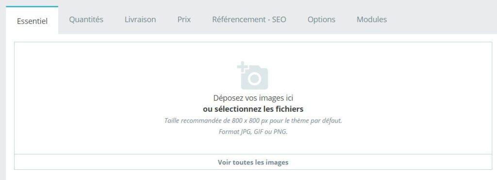 Comment ajouter une image sur PrestaShop ?